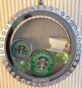 Starbucks Coffee Cup Floating Charm Living Lockets   eBay - Select charms of your choice for Origami Owl Living Locket