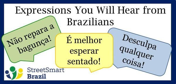 These are expressions that you will hear from Brazilian friends anywhere in the world. #brazil #portuguese