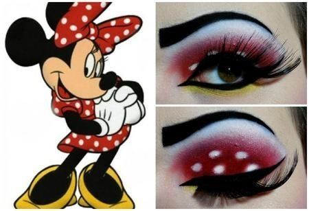 minnie mouse inspired makeup maquillaje y cabello pinterest makeup beauty and mice. Black Bedroom Furniture Sets. Home Design Ideas