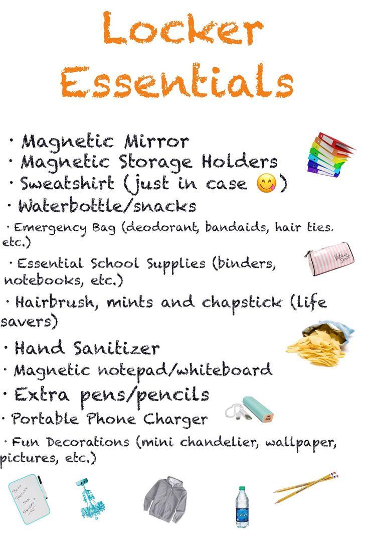 High School Locker Essentials :))