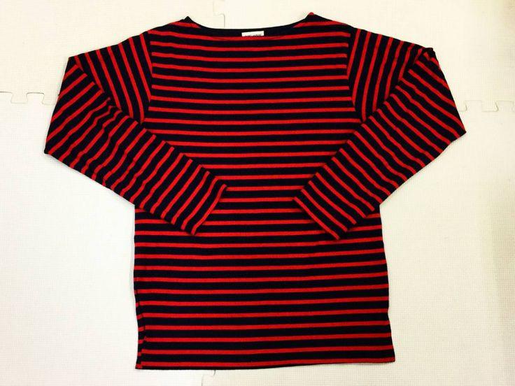 6101■サンローランパリ 長袖 Tシャツ ロンT クルーネック ボーダー M レッド ネイビー SAINT LAURENT PARIS_画像1