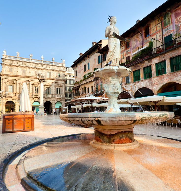 View of the Piazza delle Erbe in center of Verona city, Italy   |   Amazing Photography Of Cities and Famous Landmarks From Around The World