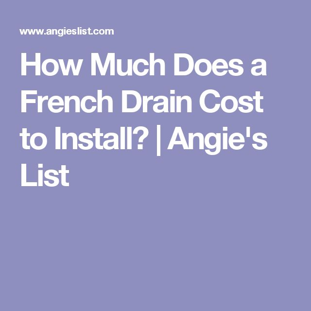 how much does a french drain cost to install angie 39 s list