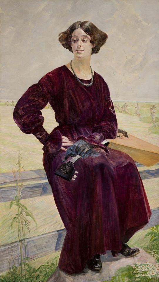Jacek Malczewski (1854-1929), Skończona pieśń — portret Róży Aleksandrowicz, 1919,