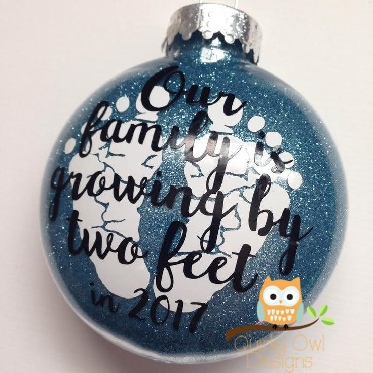 Pregnancy Christmas Ornament by Quirky Owl Designs.  quirkyowldesigns.com