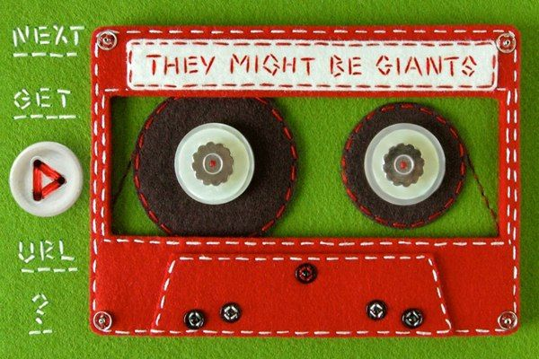 Felt Cassette Tape for They Might Be Giants' iPhone App by Hine Mizushima, via Behance