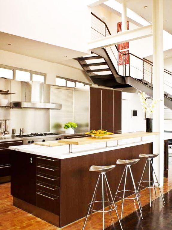 desain dapur minimalis di bawah tangga model modern home design rh pinterest com