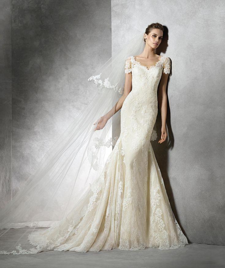Tair, abito da sposa in stile sirena con scollatura a cuore