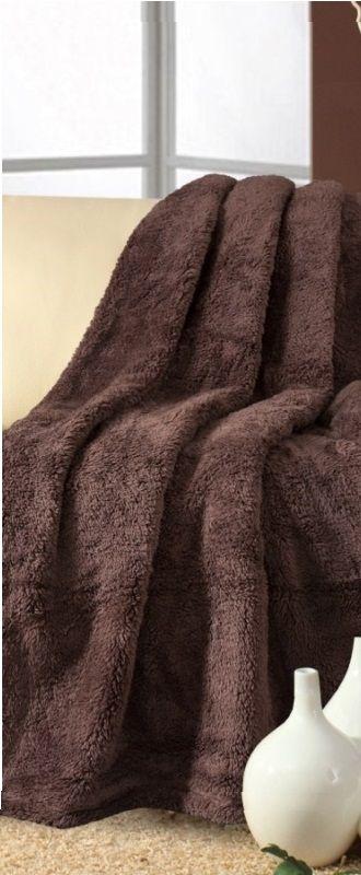 Přehoz na gauč hnědé barvy