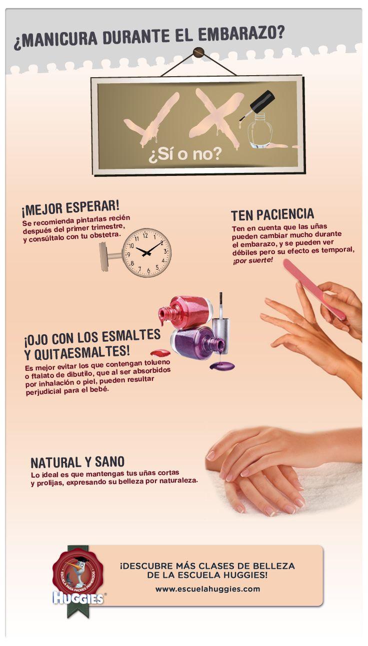 ¿Estás acostumbrada a lucir tus uñas impecables? Descubre qué recaudos tienes que tomar sobre tu manicura en estos 9 meses. Y disfruta muchas más clases de belleza en www.escuelahuggies.com