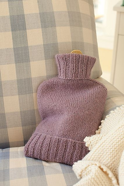 Ravelry: Hot Water Bottle Cozy pattern by Churchmouse Yarns and Teas