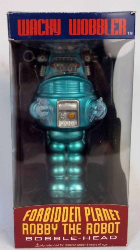 Funko Wacky Wobbler Forbidden Planet Robby The Robot Bobblehead Chase Rare Color #Funko