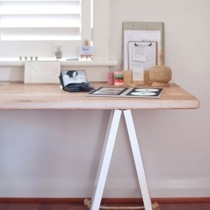 White Sand Trestle Desk - office scene