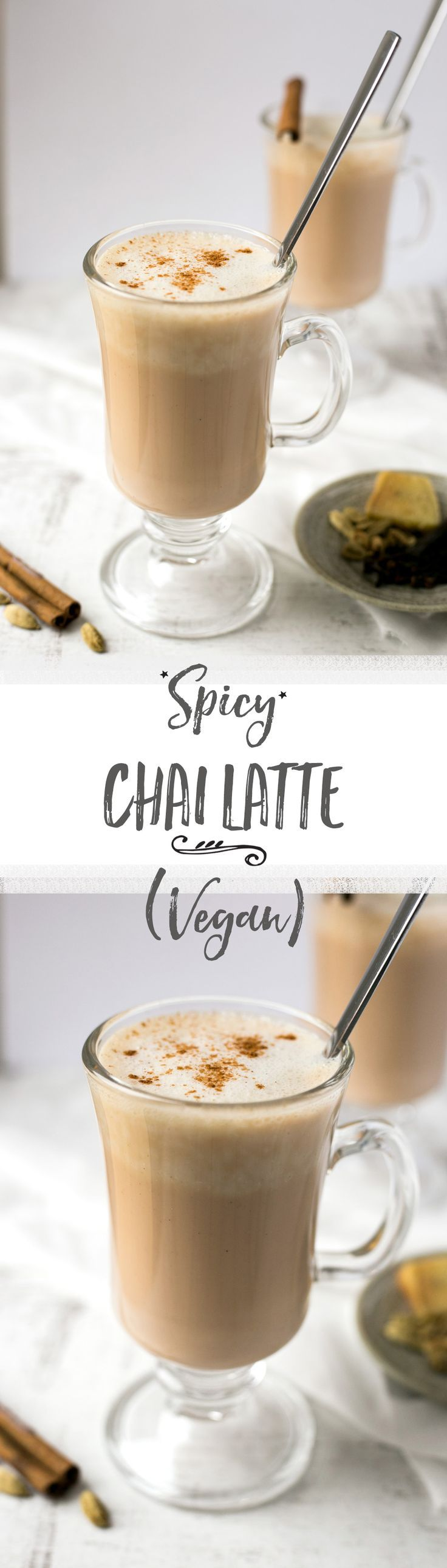 Smooth, delicious, spicy chai latte made with cashew milk and traditional spices. | via @annabanana.co