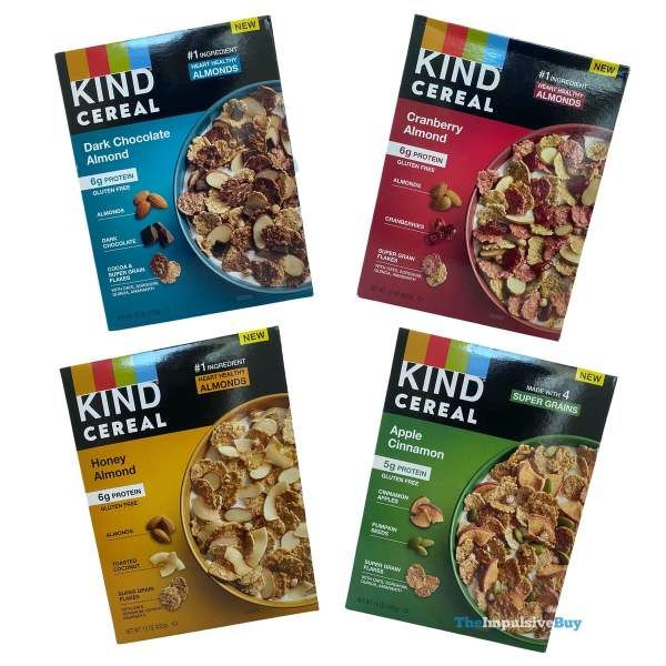 Review Kind Cereal Almonds Nutrition Fruit And Nut Bars Cereal Flavors