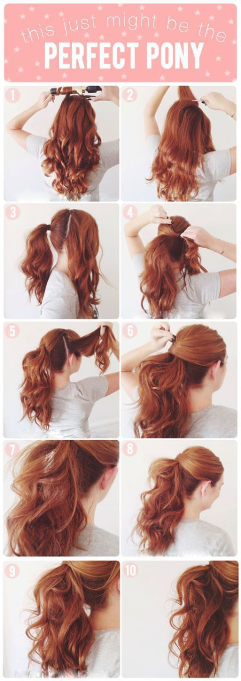 The perfect ponytail hair tutuorial
