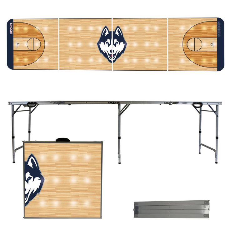 University of Connecticut Huskies 8 Foot Portable Tailgate and Pong Table