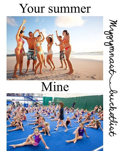 Holy crap even though this is for gymnastics, it's so accurate for soccer too.. just not in a gym outdoors on the 100 degree turf field