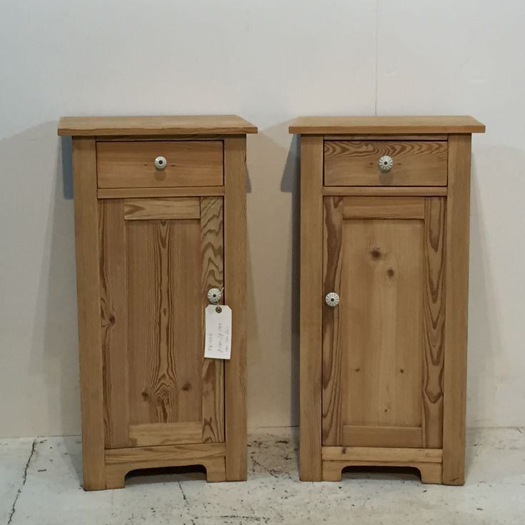 A Pair of Antique Pine Bedside Pot Cupboards (T6150B)