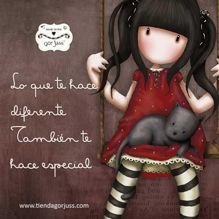 Lo que te hace diferente también te hace especial  #gorjuss #santoro #frasedeldia #felizlunes