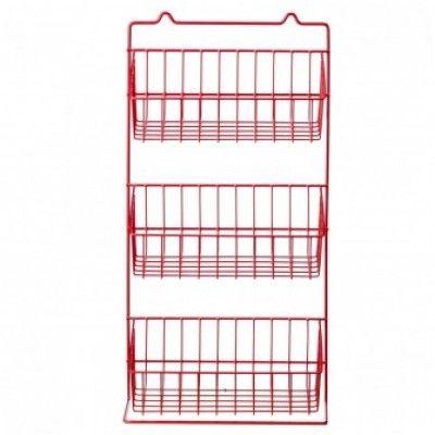 RED WIRE WALL STORAGE $44.00 Height 54cm X 25 X 14.5cm