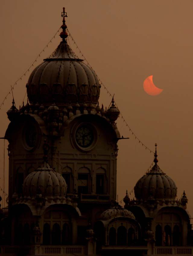Harmandir Sahib, Amritsar, Punjab, India (Solar eclipse of 22 July 2009)