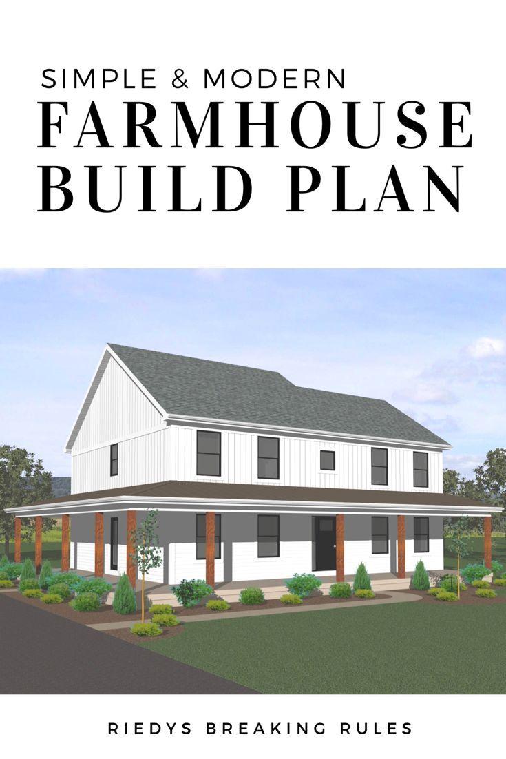 2500 Square Foot Modern Farmhouse Build Plan Modern Farmhouse Custombuild Houseplan Plan House Newbuild Newcon Modern Farmhouse How To Plan House Plans