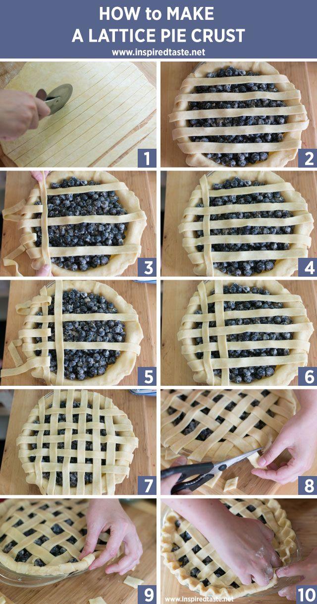 How to Make a Lattice Crust from www.inspiredtaste.net #pie