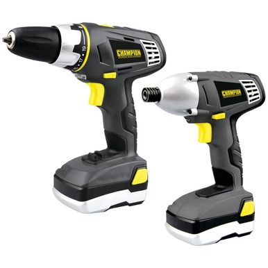 CHAMPION SAFE00120 20-Volt Cordless Drill/Impact Driver Combo Kit