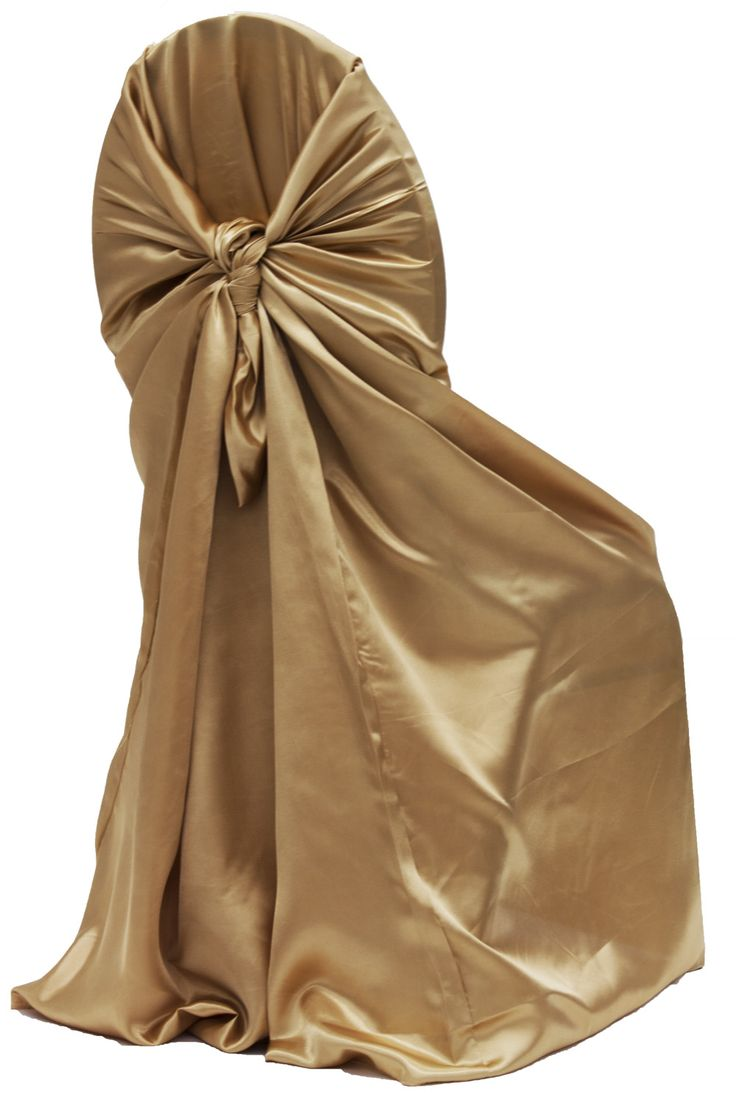 Universal Satin Self Tie Chair Cover Antique Gold 1920