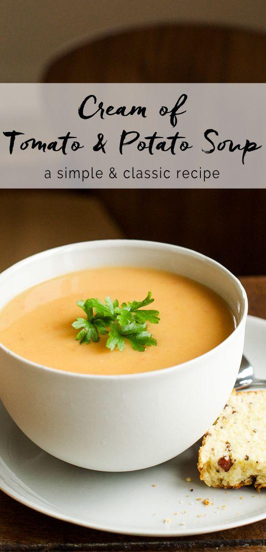 Cream of Tomato & Potato Soup | eatlittlebird.com