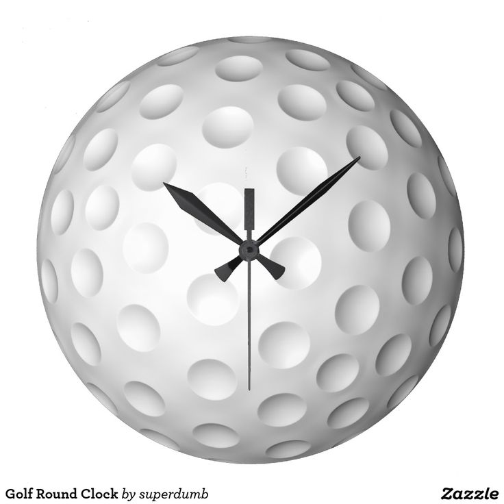 Golf Round Clock for you at www.zazzle.com/superdumb #clock #golf