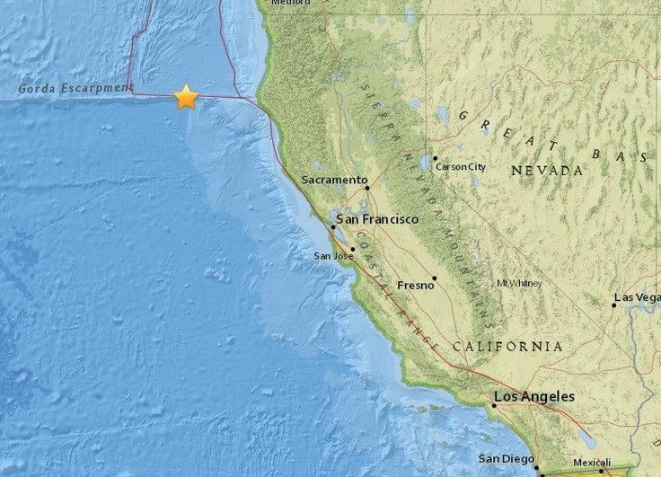 Magnitude 6.5 earthquake reported off coast of Northern California #U_S_A_ #iNewsPhoto