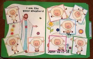 Bible Fun For Kids: Jesus The Good Shepherd FFG & More for Preschool Match the sheep game