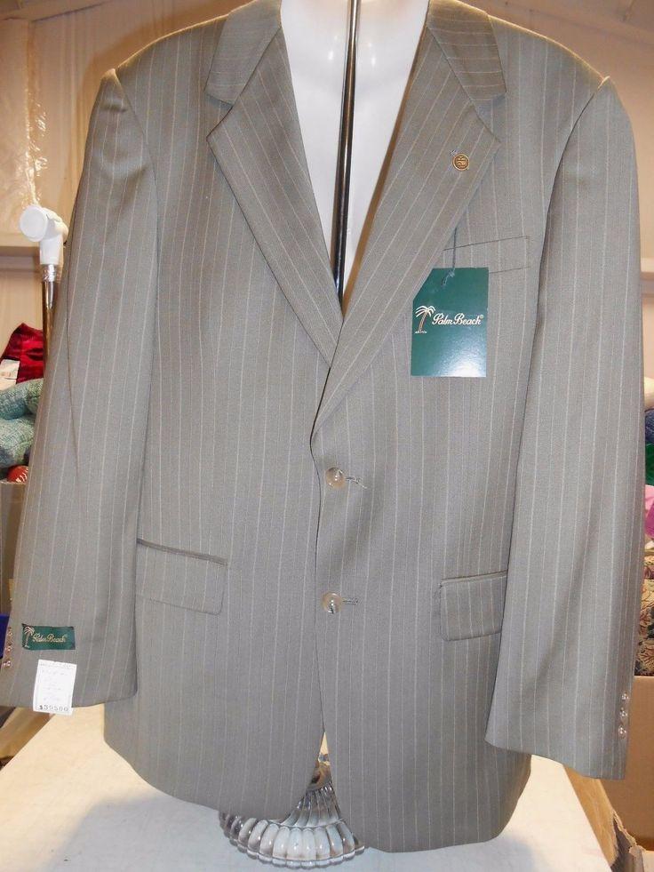 Austin Reed Men's Suit Jacket Pants Set, 42L, 36W, Gray Stripe
