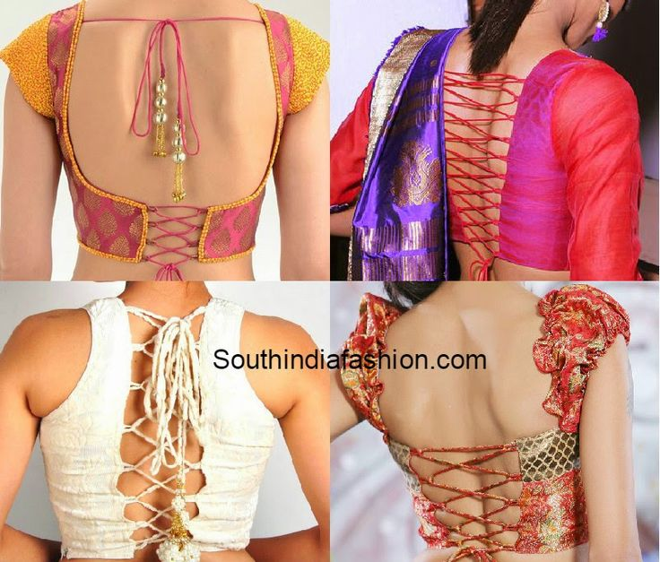 criss cross dori back blouse designs