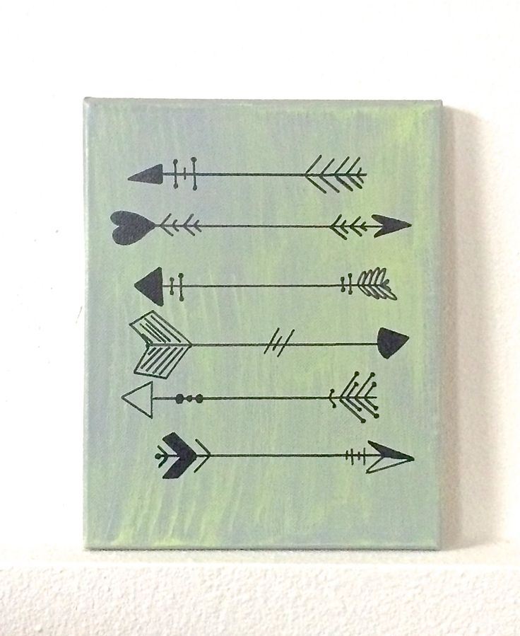 Arrow canvas painting, follow your arrow sign, arrow painting by THERUSTICBEACHHOUSE on Etsy