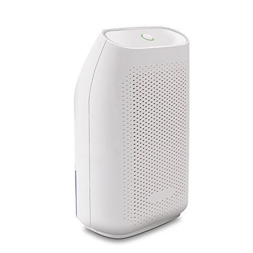 Hysure Portable Mini Dehumidifier Electric, Small Air Purifier, Deshumidificador, Basement Dehumidifier for Home, Crawl space, Bathroom, RV, Baby Room, Garage, White  ▶High Humidity Removal: Dehumidification volume is up to 300ml/day which keeps the environment in a suitable humidity. Better use in 10-20 square meters space and the optimum climate is 86 Fahrenheit and RH 80% environment.  ▶Whisper Quiet: It works quietly, noise is lower than 33dB, so it will not disturb your work, slee...