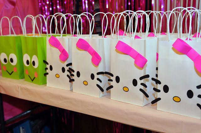 Hello Kitty y Keroppi: bellas bolsas para recuerdito, souvenir o sorpresas.