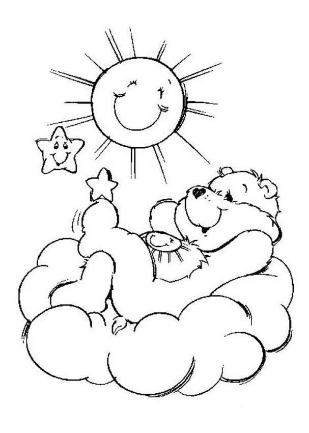 care bears coloring pages 7 coloring kids - Sunshine Coloring Pages Printable