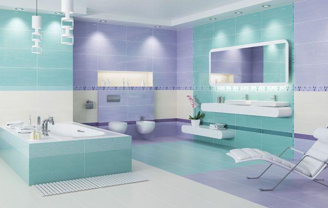 Kolorowa łazienka. Inspirujący pomysł na remont.   http://www.paradyz.com/plytki/lazienkowe/palette-farbi  https://www.facebook.com/CeramikaParadyz