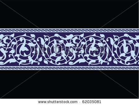 Tabas Flower Seamless Border by Azat1976, via Shutterstock