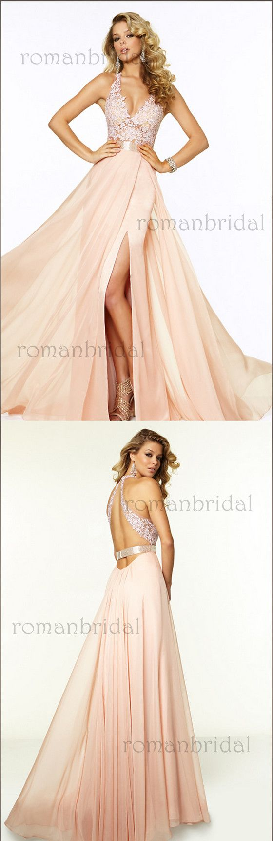 2018 Newest floor-length sleeveless Long V-Neck Lace Prom Gown, Amazing elegant Prom Dresses, PD0467