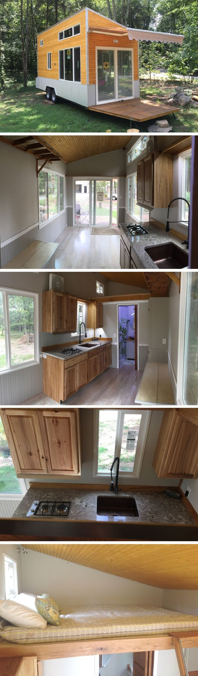 A 200 sq ft tiny house that's off grid compatible! Currently for sale for $38K!