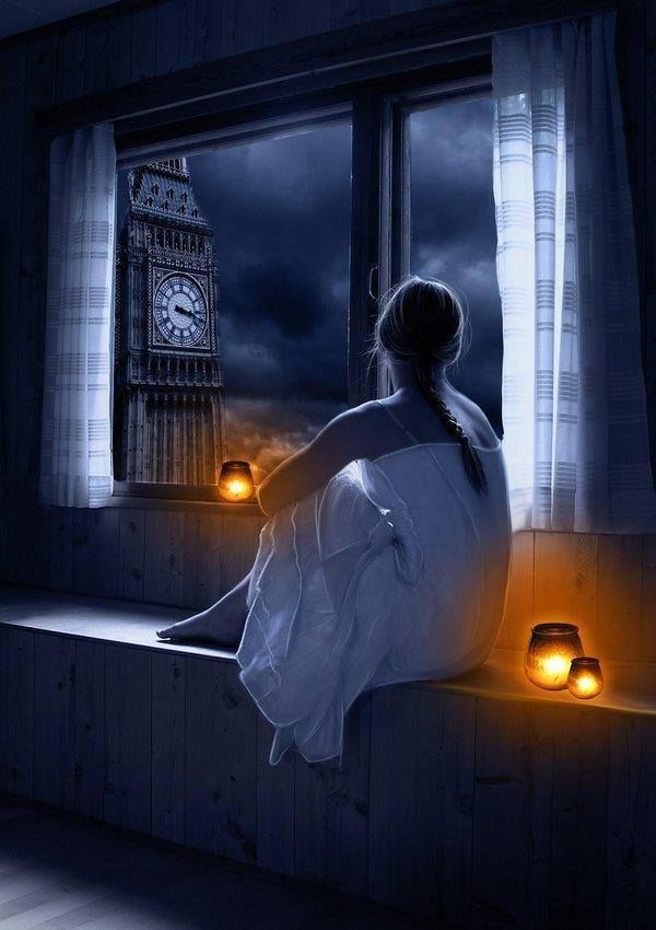 Looking out at the beautiful night sky from your window  #candles. LOVE THIS