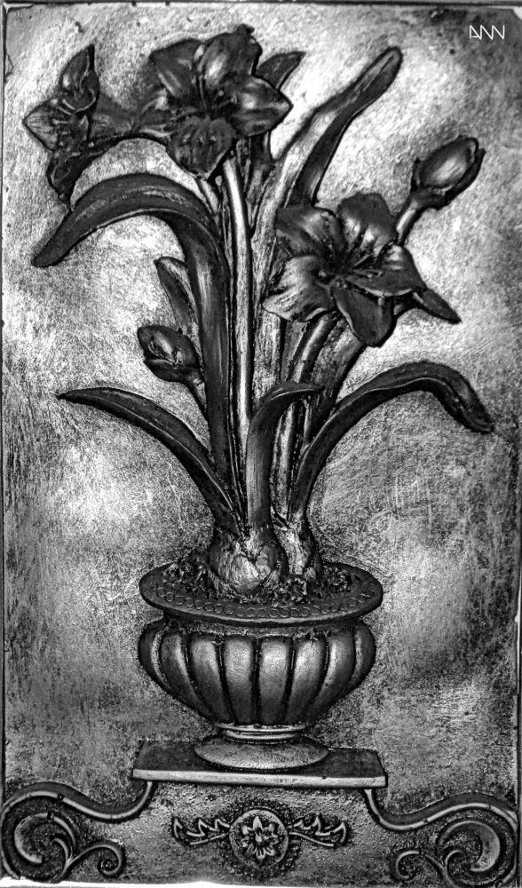 flowers in embossed by Anton Nistor Nicolae