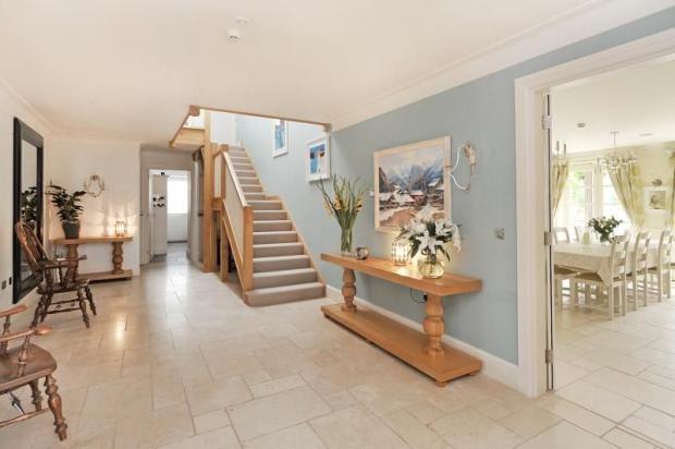Blue Foyer And Hallway : Ideas about blue hallway on pinterest