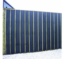 Acoustic absorptive garden sound barrier wooden fence for Best sound barrier insulation