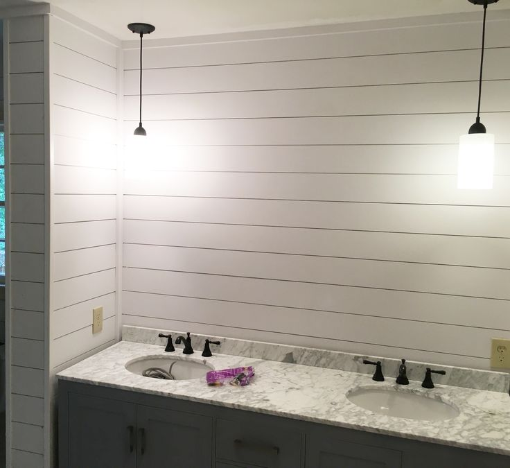 Check out this bathroom project nearing completion with