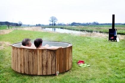 20 Best Wood Fired Hot Tub Images On Pinterest Decks